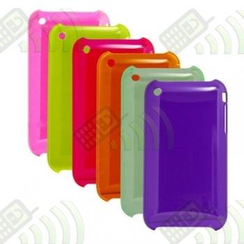 Carcasa Rígida Iphone 3G/3GS Naranja Semitransparente