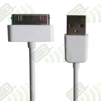 Cable USB Iphone / Ipod  / Ipad Blanco 30 cm