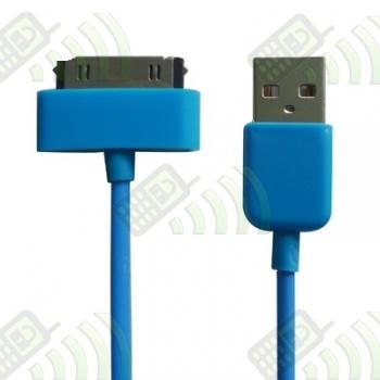 Cable USB Iphone / Ipod / Ipad Azul 30 cm