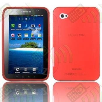 Funda Gel Samsung Galaxy Tab (GT- P1000) Roja