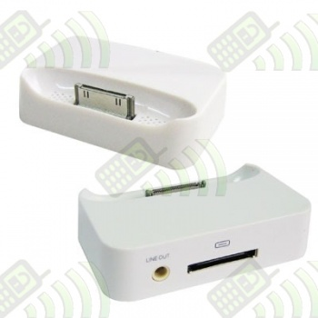 Cargador Base Dock Iphone 3G/3GS Blanco