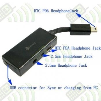 Adaptador Auriculares 4 en 1 Conector HTC USB 11 pines