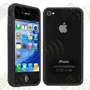Marco Antigolpes Gel Iphone 4 Negro