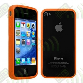 Bumper Marco Antigolpes Gel Iphone 4 Naranja