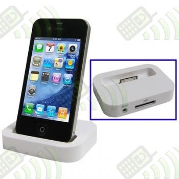 Cargador Base Dock Iphone 4 Blanco
