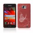 Carcasa trasera Roja Samsung Galaxy S2 i9100 Mariposa