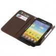 Funda Solapa Samsung Galaxy Note i9220 Marron Multiusos
