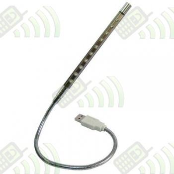 Lámpara Portátil Metálica LED USB Flexible