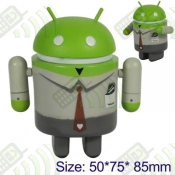 Muñeco Robot Android Traje Verde