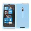 Funda de silicona transparente para Nokia Lumia 800 Rosa