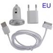 Cargador 3 en 1 USB/coche Iphone Blanco