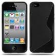 Funda Silicona Gel iPhone 5G Negra Brillo & Mate