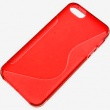 Funda Silicona Gel iPhone 5G Rojo Brillo & Mate