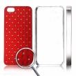 Carcasa trasera Rojo Iphone 5 Diamantes