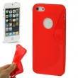 Funda Silicona Gel iPhone 5 Rojo S-Type