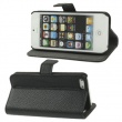 Funda Solapa Negra Adaptable como soporte para iphone 5