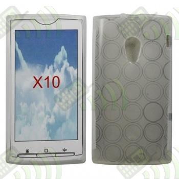 Funda Silicona Gel SE Xperia X10 Transparente Círculos