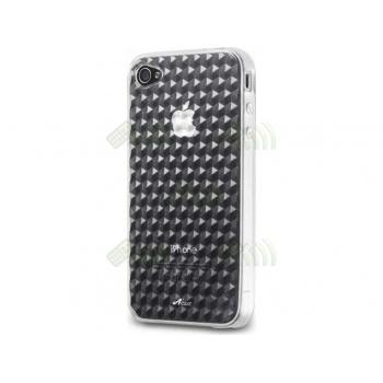 Funda Gel Silicona Iphone 4 Transparente Diamond