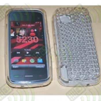 Funda Gel Nokia 5230 Transparente Diamond