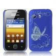 Carcasa trasera Samsung Galaxy Y S5360 Mariposa Azul