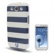 Carcasa trasera Samsung Galaxy S3 i9300 Rayas Azules