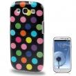 Carcasa trasera Samsung Galaxy S3 i9300 Negra con Lunares de Colores