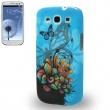Carcasa Samsung Galaxy S3 i9300 Azul con Mariposas