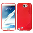 Funda TPU Samsung Galaxy Note II N7100 Roja Brillo y Mate