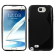 Funda TPU Samsung Galaxy Note II N7100 Negra Brillo y Mate