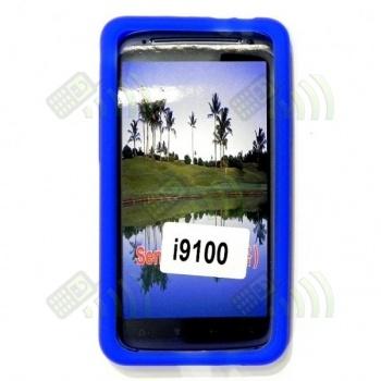 Funda Silicona Samsung Galaxy S2 i9100 Azul