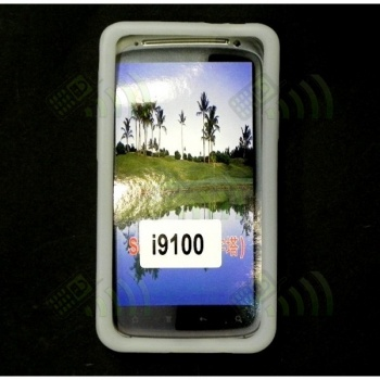 Funda Silicona Samsung Galaxy S2 i9100 Semitransparente