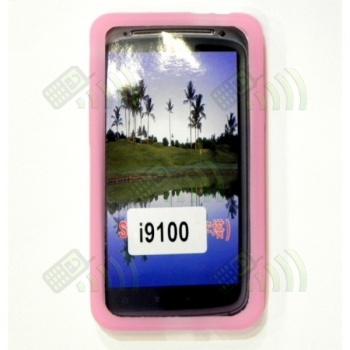 Funda Silicona Samsung Galaxy S2 i9100 Rosa Fucsia