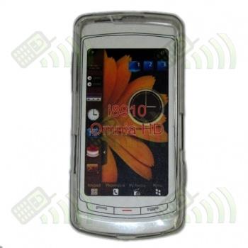 Funda Silicona Gel Samsung Omnia HD i8910 Transparente Hexágonos