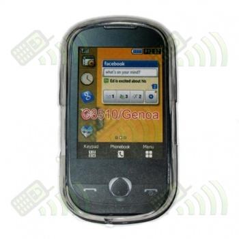 Funda Gel Samsung Genoa C3510 Transparente Hexágonos