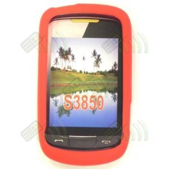 Funda Silicona Samsung Corby II S3850 Roja