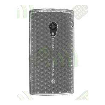 Funda Silicona Gel SE Xperia X10 Transparente Diamond