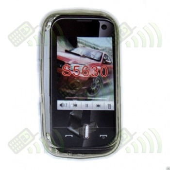 Funda Gel Samsung S5630 Transparente Hexágonos