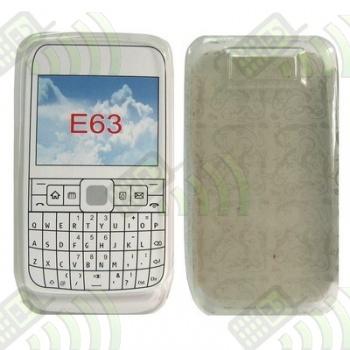 Funda Gel Nokia E63 Transparente Círculos