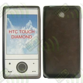Funda Gel HTC Diamond Transparente Círculos