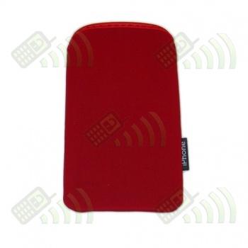 Funda Neopreno Roja iPhone 12,5x7cm