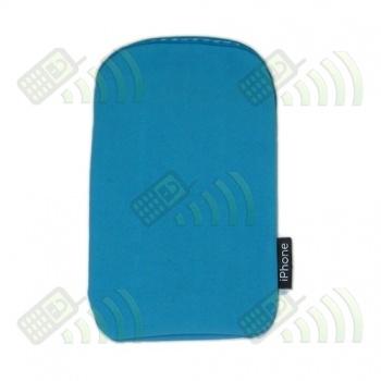 Funda Neopreno Azul Celeste iPhone 12,5x7cm