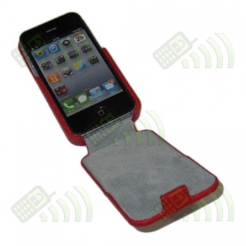 Funda Solapa iPhone 4/4S Roja