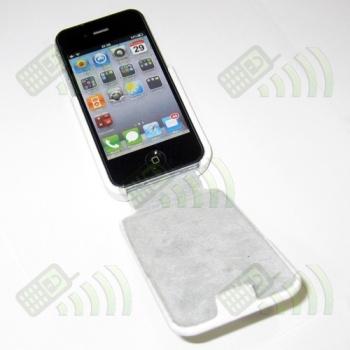 Funda Solapa iPhone 4 Blanca