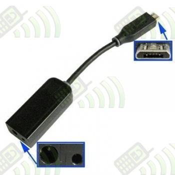 Adaptador de cargador NOKIA punta fina/gorda a micro USB