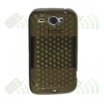 Funda Gel HTC Wildfire Oscura Diam.