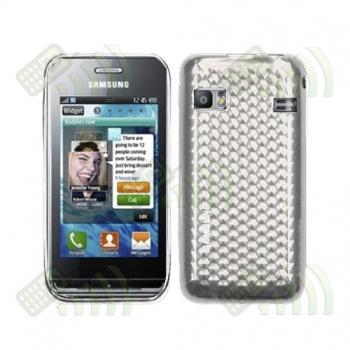 Funda Silicona Gel Samsung S7230E Wave 723 Transparente Diamond