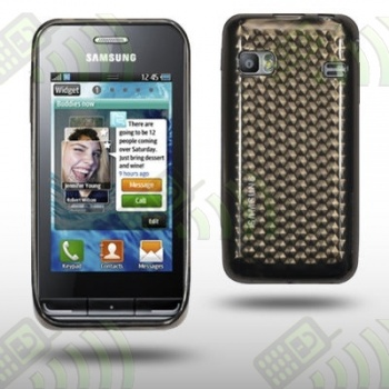Funda Silicona Gel Samsung S7230E Wave 723 Oscura Diamond