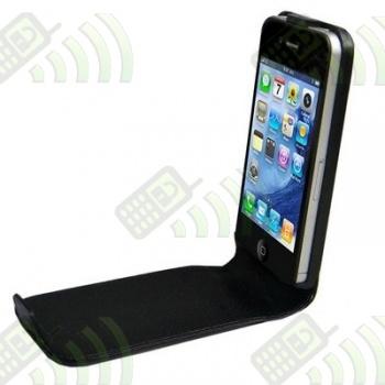 Funda Solapa iPhone 4 Negra Lisa