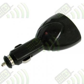 Adaptador 2 Puertos USB dual coche NEGRO