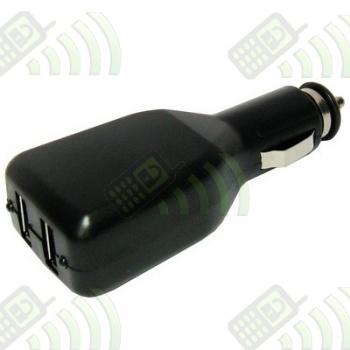 Adaptador 2 Puertos USB coche NEGRO